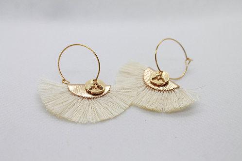 Boucles d'oreilles Pistil Or Blanc
