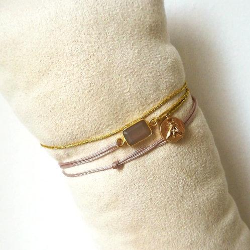 Bracelet Unique Quartz rose