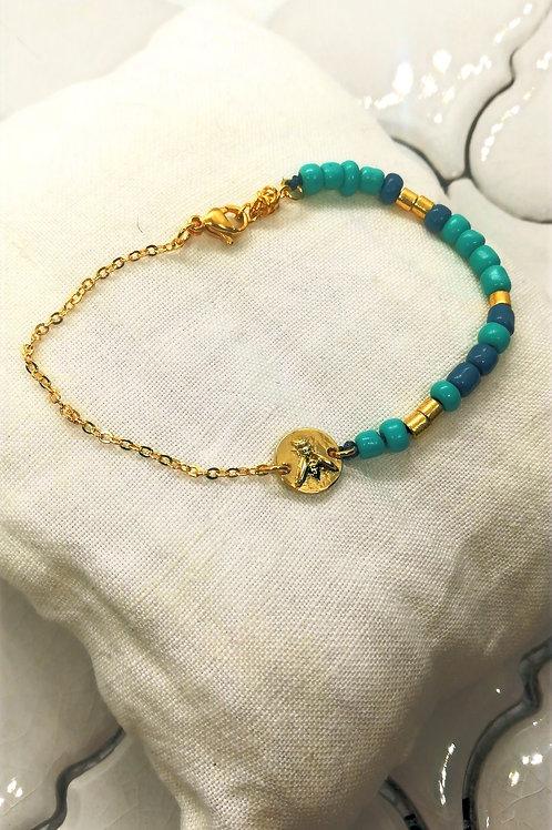 Bracelet Lys Bleu