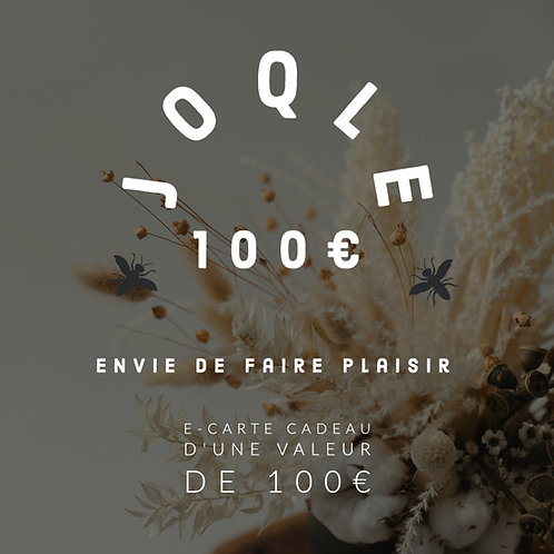 E-carte cadeau 100€