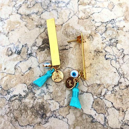 Boucles d'oreilles Oeillet Turquoise