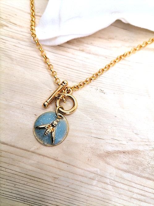 Collier Lupin Bleu ciel