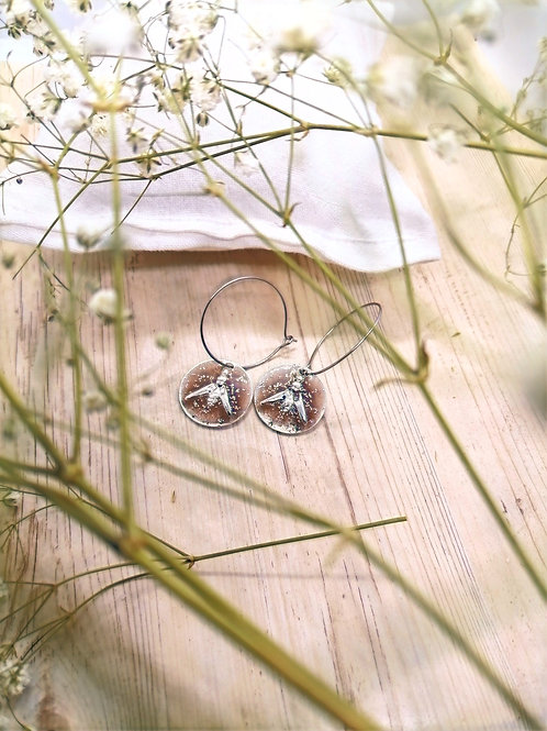 Boucles d'oreilles Lupin Taupe