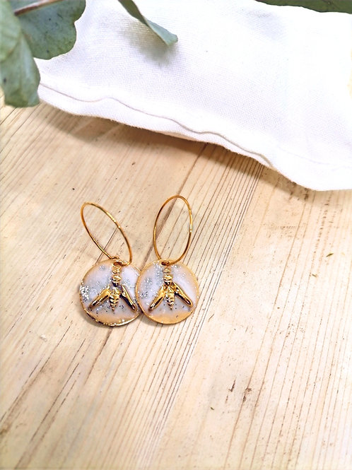 Boucles d'oreilles Lupin Blanc