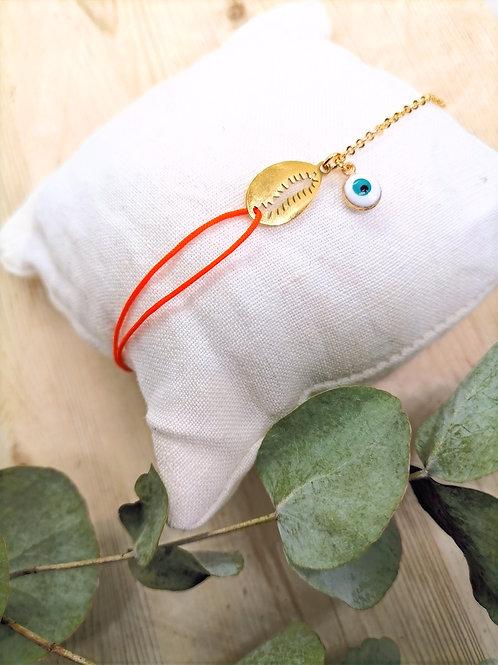 Bracelet Dahlia Or Orange