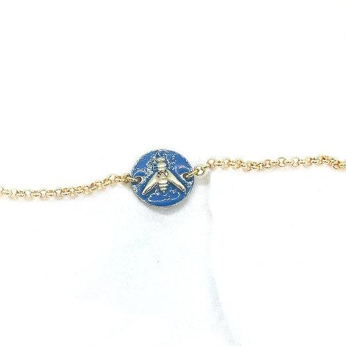 Bracelet Lupin Or Bleu