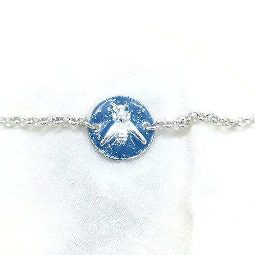 Bracelet Lupin Argent Bleu