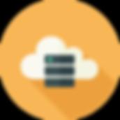 Иконка облачный сервер значок flat