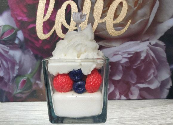 "Ароматна свещ ""Плодов йогурт"""