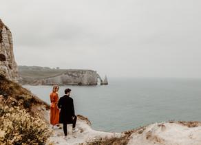 Une séance photo de couple à Etretat