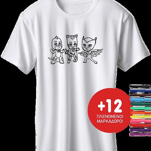 PJ Masks + Δώρο 12 Μαρκαδόροι