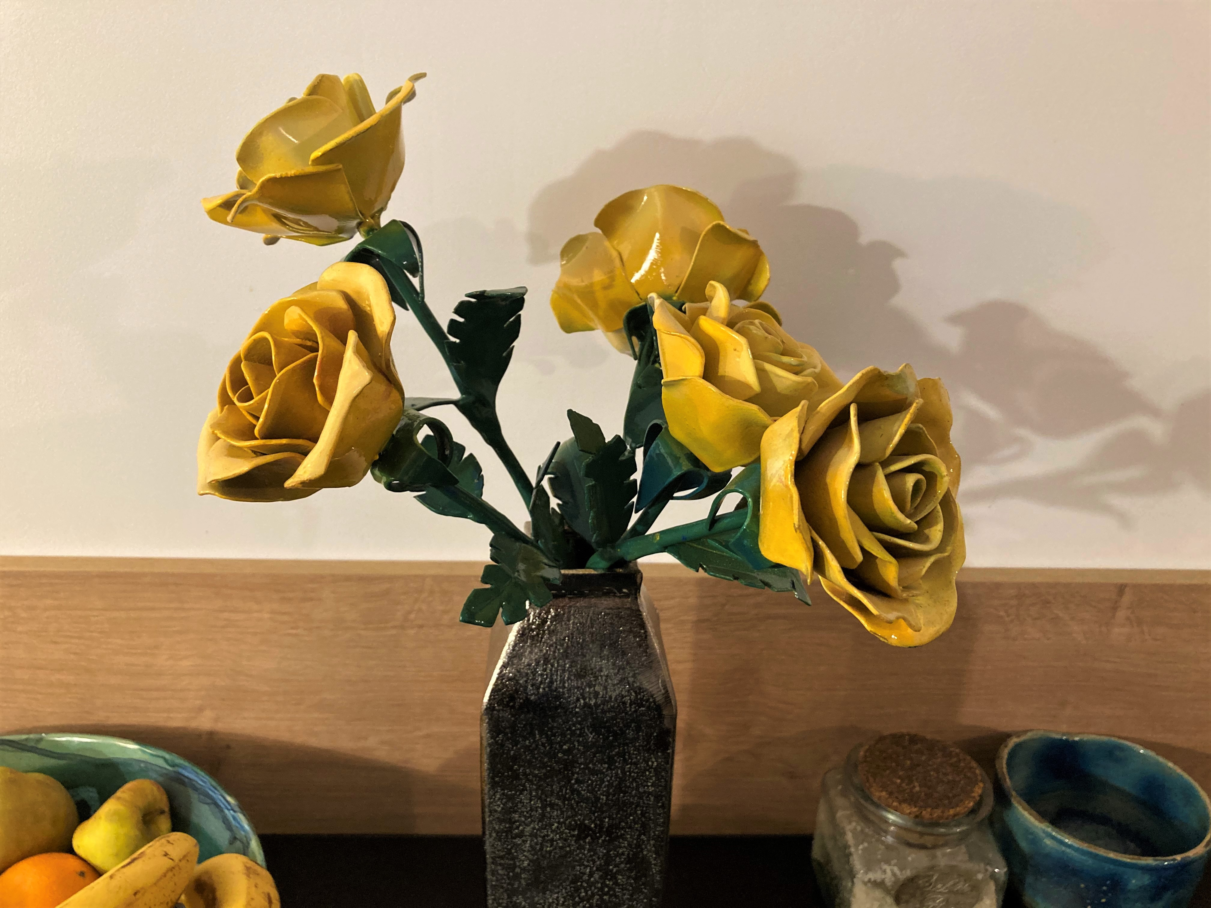 """Rose jaune sur tige"" - n°410"