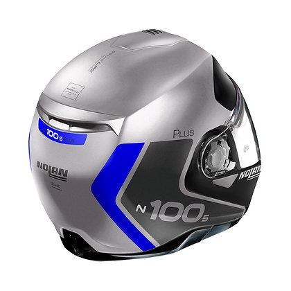 Nolan N100-5 Plus Distinctive N-Com Flat Silver 30