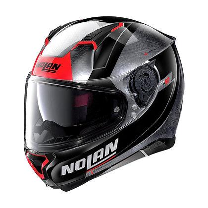 Nolan N87 Skilled N-Com Scratched Chrome