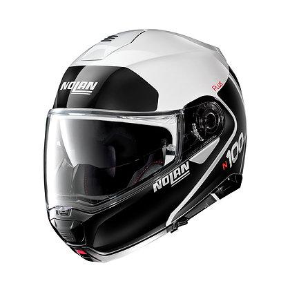 Nolan N100-5 Plus Distinctive N-Com Metal White 22