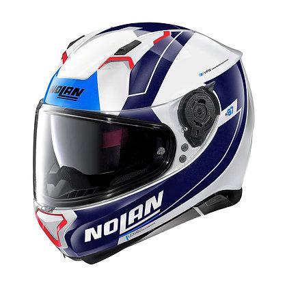 Nolan N87 Skilled N-Com Metal White 99