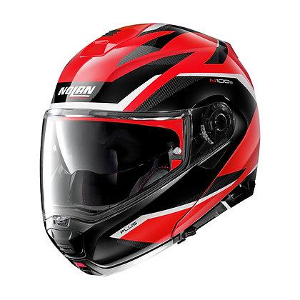 Nolan N100-5 Plus Overland N-Com Corsa Red 36