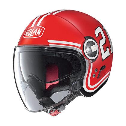 Nolan N21 Visor Quarterback Flat Corsa Red 84