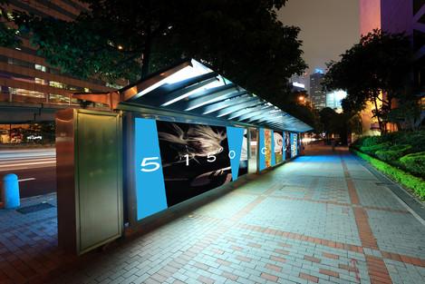 Transit stations advertising