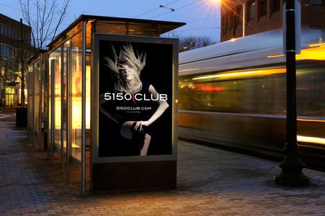 Transit station advertising