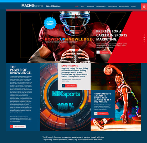 MX Sports – eCommerce website homepage