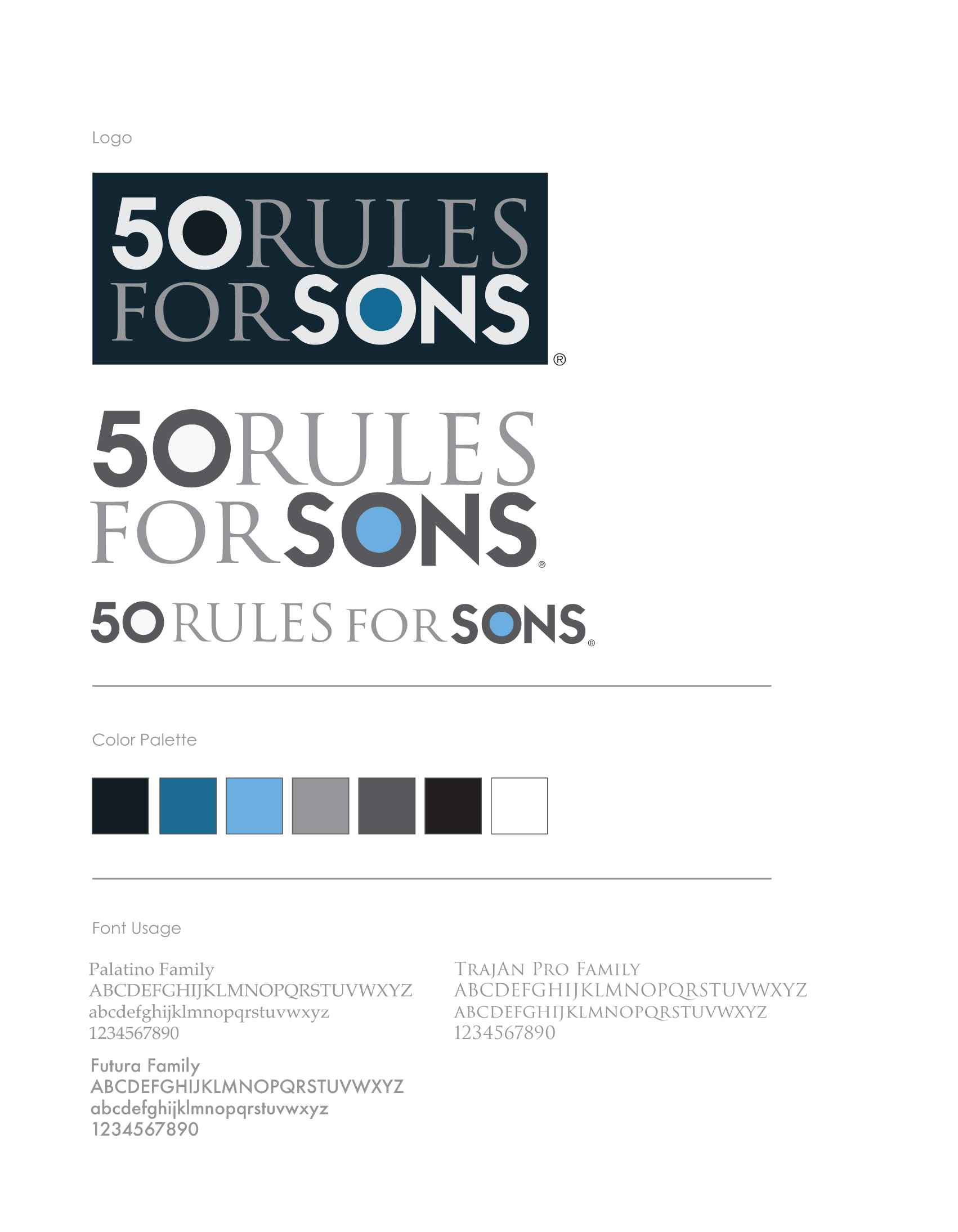 50 Rules For Sons – Brand Identity