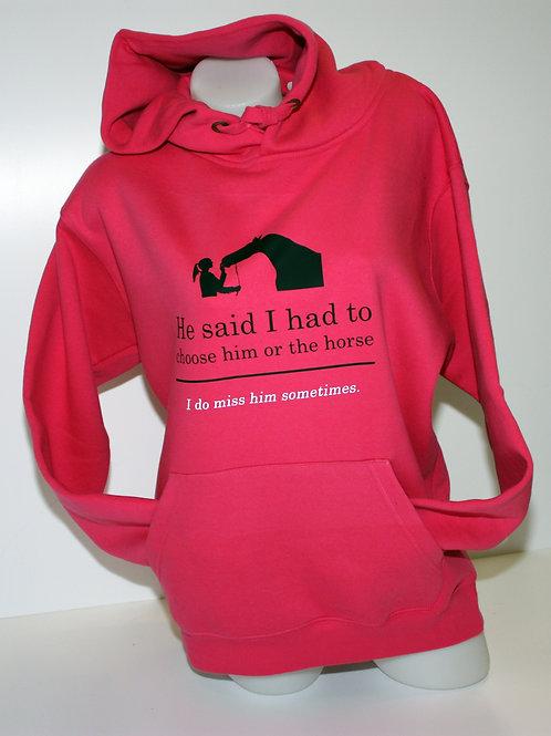 Archers Premium Hooded Sweatshirt - Choose Him Or The Horse