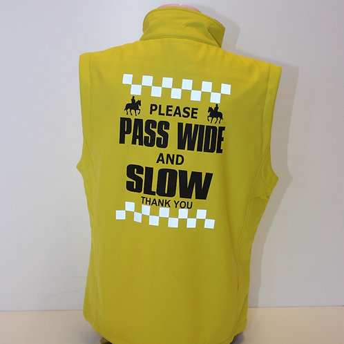Soft Shell Gilet - PASS WIDE/SLOW DOWN with Reflective