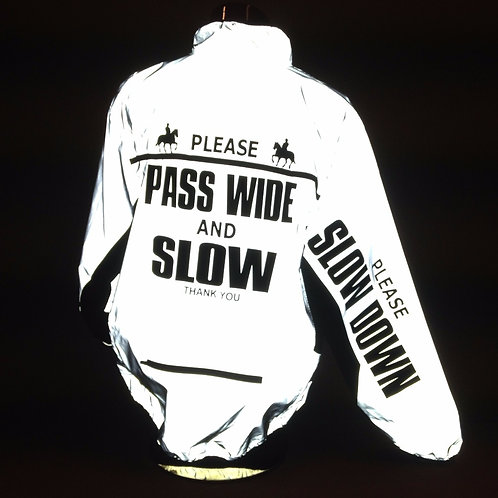 Reflective Jacket - PASS WIDE/SLOW DOWN