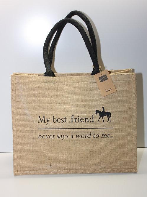 Classic Jute Shopper...My Best Friend Never Says