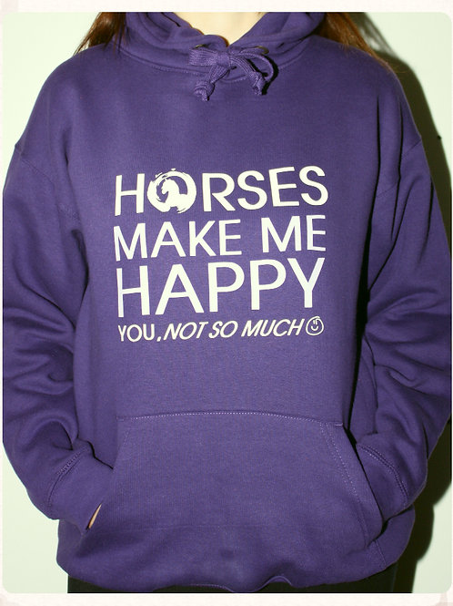 Equestrian Themed Printed Premium Hoody (Happy)