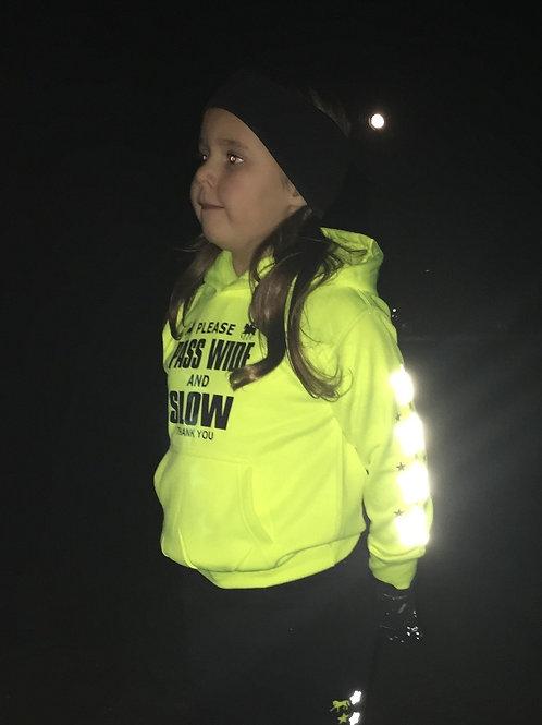 CHILDREN'S Reflective 'BE SEEN' Hooded Sweatshirt