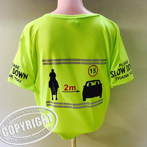 Flourescent Cool Short Sleeve T-shirt - REFLECTIVE HRSA