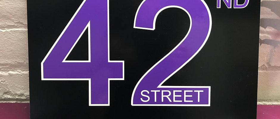 42nd Street Sign A3  Retro Whitley Bay Pub / Bar Sign
