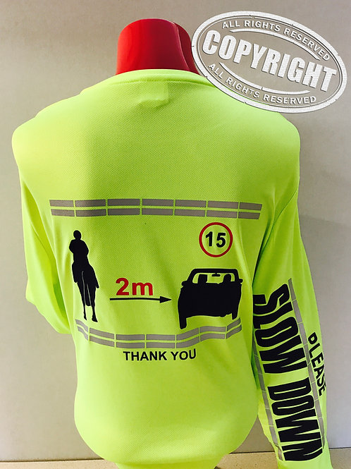 Flourescent Cool Long Sleeve T-shirt - REFLECTIVE HRSA