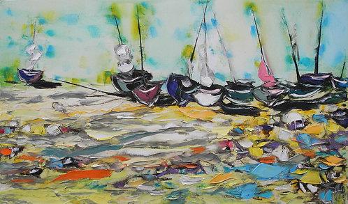 Лодки на песке 85х50 см