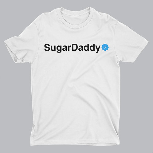 sugar daddy written on white tshirt