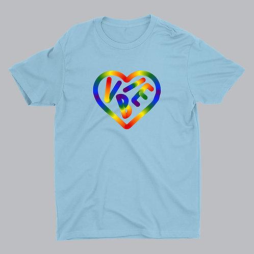 Love Vibe LGBTQ Pride Light Blue Tshirt