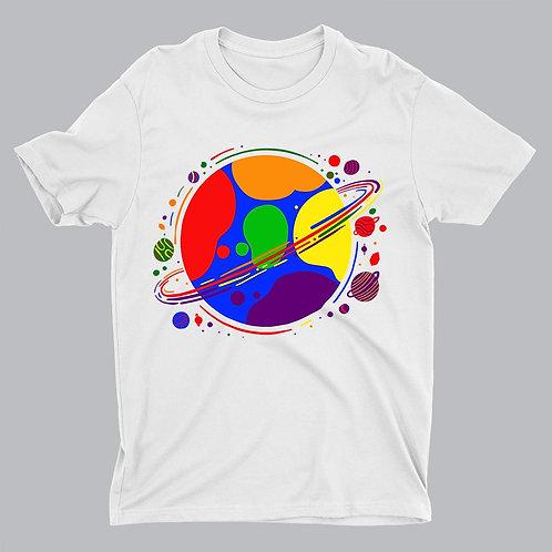 Planet Pride LGBTQ White Tshirt