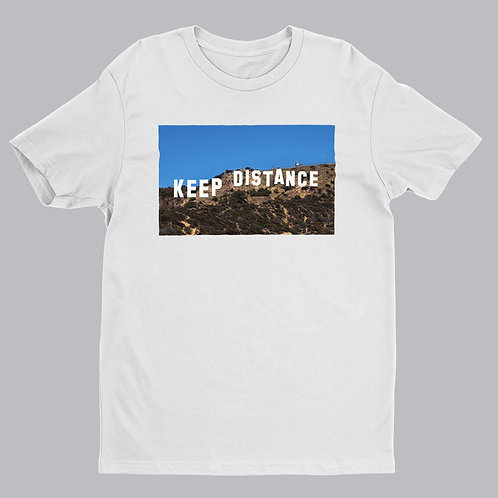 Keep Distance White Tshirt