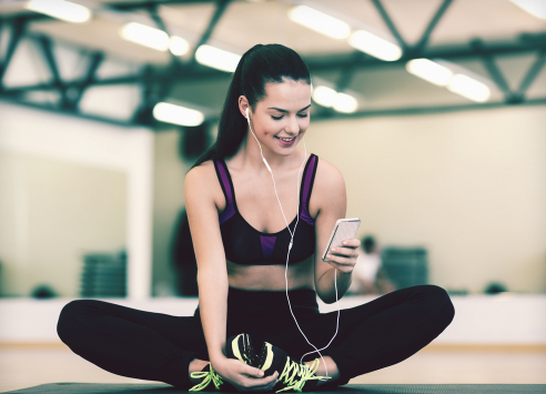 listening music in workout