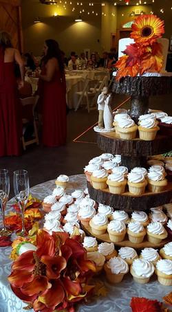 Fall Cupcake Table