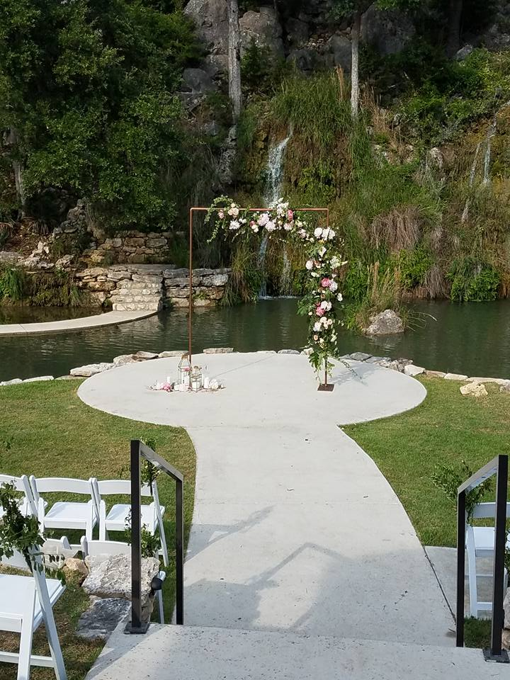 Floral Arch Ceremony