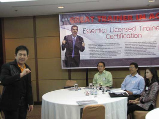 "Essential Licenced Trainer (ELT) Certification ""Great Trainer in Action"" Angkatan V, 28-31 Agustus 2"