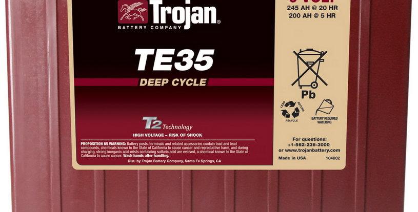 Тяговый аккумулятор Trojan TЕ35