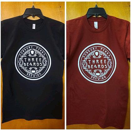 Three Beards Circle Logo T-Shirt