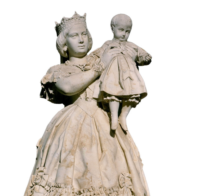 Isabel II con el Príncipe de Asturias