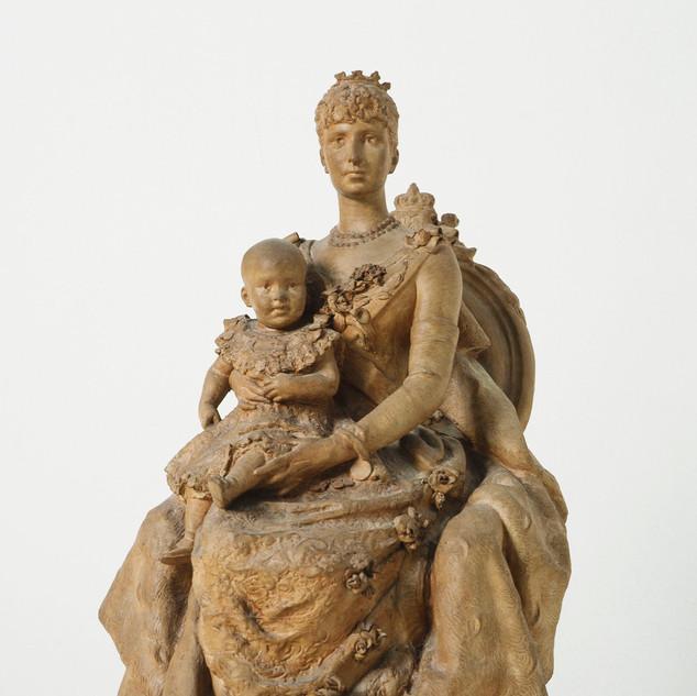 La reina regent Cristina d'Habsburg i Alfons XIII