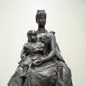 Su Majestad Reina Maria Cristina con su hijo Alfonso XIII