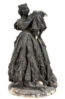 Retrat de la reina Isabel II presentant el príncep Alfons